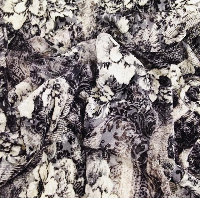 Бархат с эффектом деворе (арт. 6092)